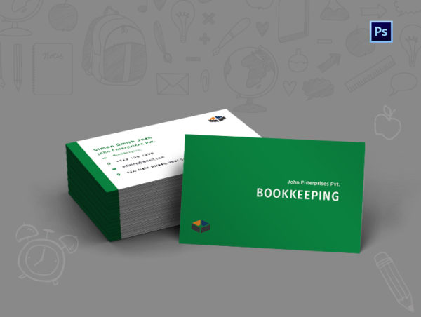 Bookkeeping Business Card