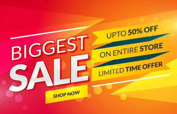 Bright Sale Banner for Marketing and Promotion Free Download