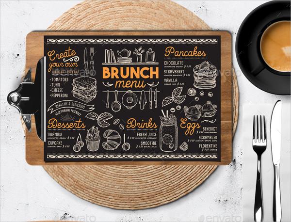 Brunch Food Menu Restaurant Template