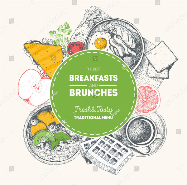 Brunches Label Food Menu Design Template