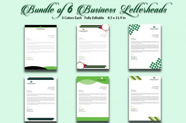 Bundle of 6 Business Letterheads