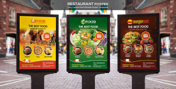 Best Restaurant Food Poster Template