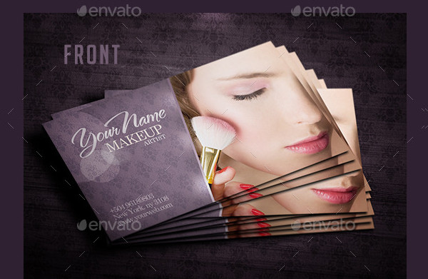 Business Card Makeup Artist