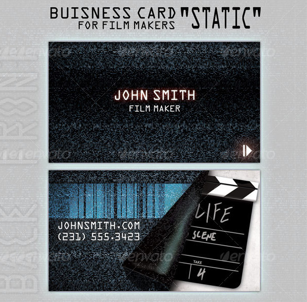 Business Card for People in Film Business