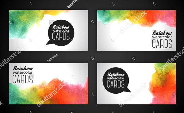 Set of Business Cards Painting