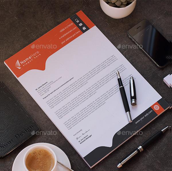 Business Letterhead PSD Template
