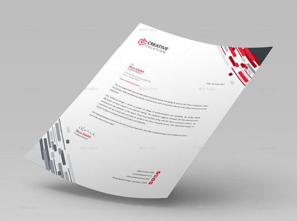 Business Letter Format With Letterhead