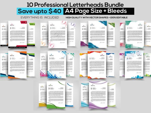 Professional Business Letterheads Bundle
