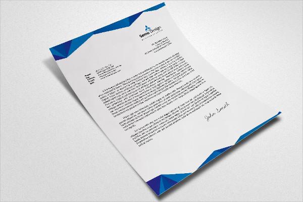Editable Business Letterheads PSD Template