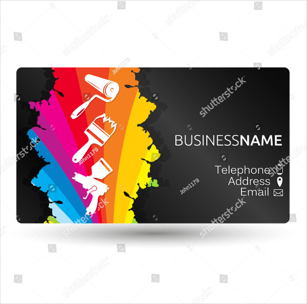 Business card for painting business