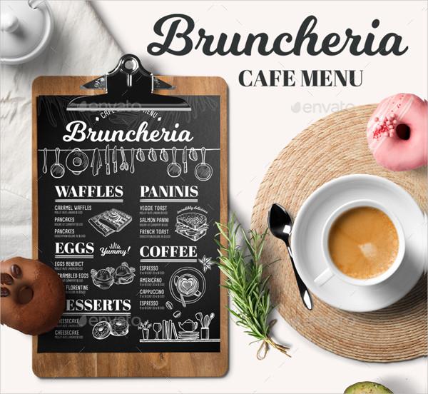 Cafe Brunch Menu Template