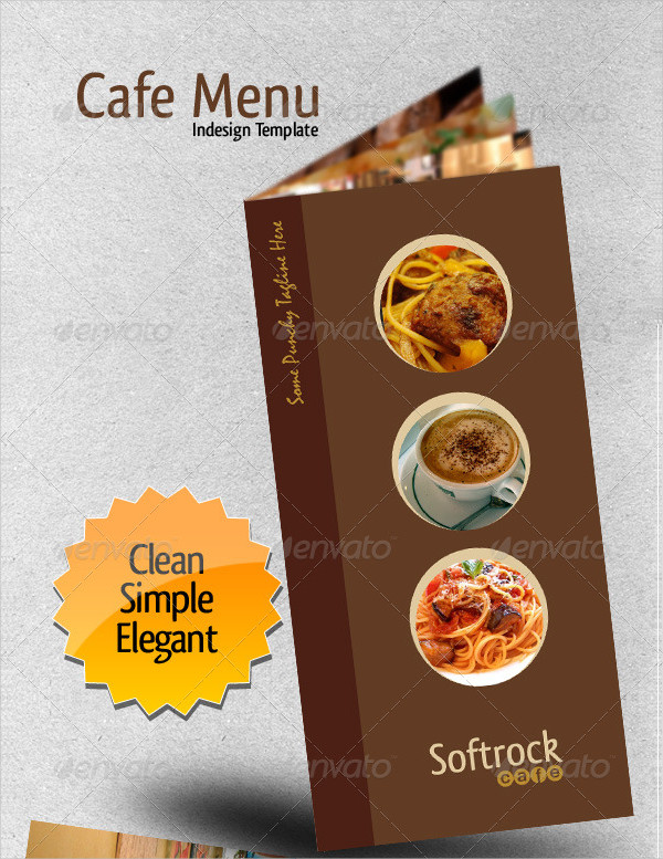 Custom Cafe Menu InDesign Template