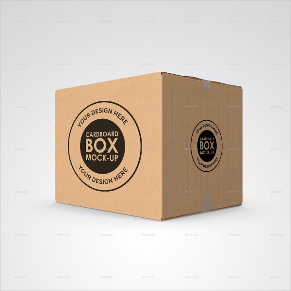 PSD Cardboard or Carton Mockup