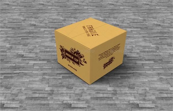 6 Cardboard Boxes Mockup PSD