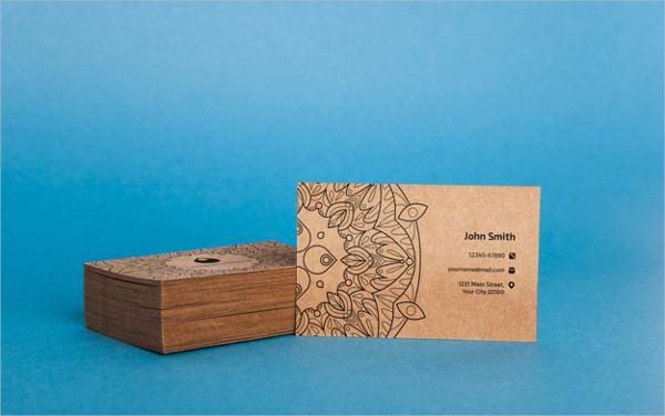 Free PSD Cardboard Business Card Mockup
