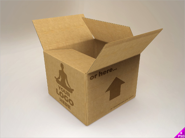 Cardboard Mockup Free