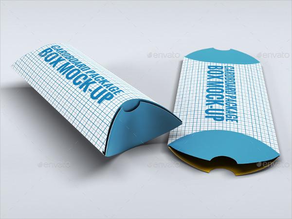 Printable Cardboard Package Box Mock-Up