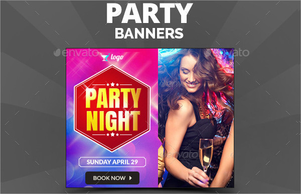 Editable Party Banner Template