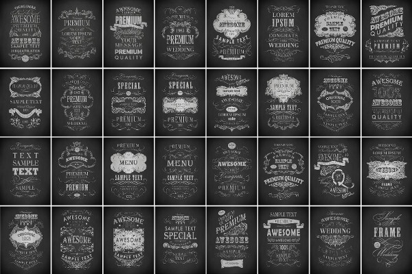 Chalk Typography Posters Bundle