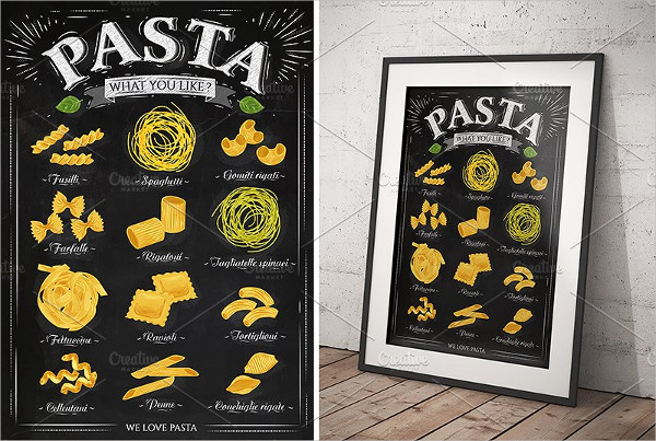 Chalkboard Pasta Poster Design