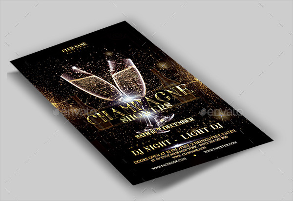 Champagne Club Night Flyer Template