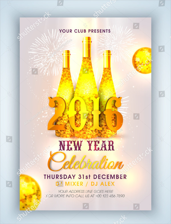 Creative Champagne Celebration Flyer Template