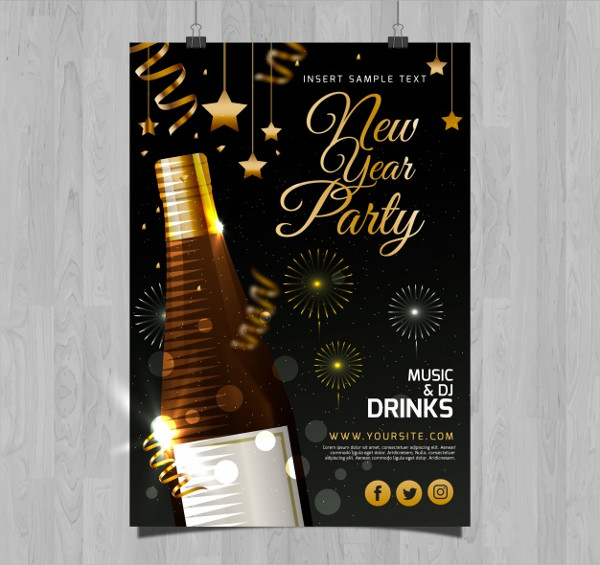 Champagne Event Flyer Template Free