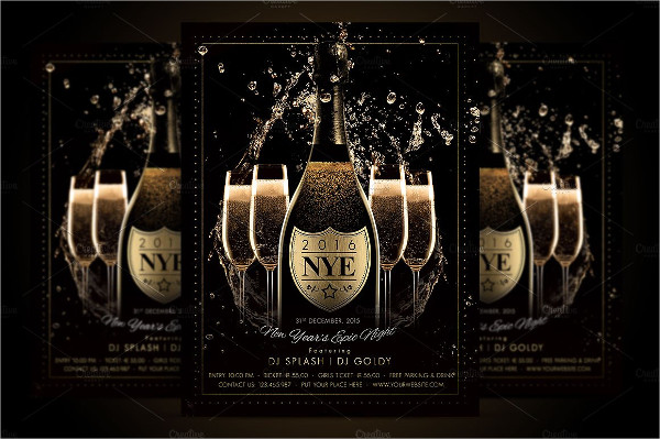 Champagne Night Flyer Template