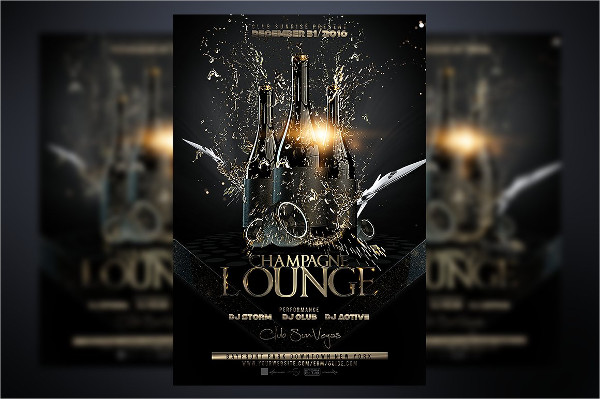 Champagne Opening Flyer Template