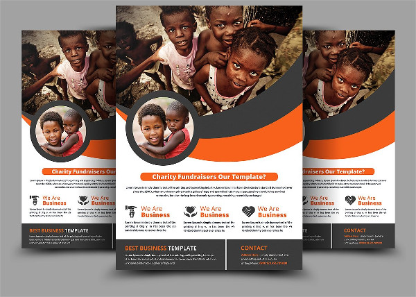 Charity Fundraisers Donation Flyer