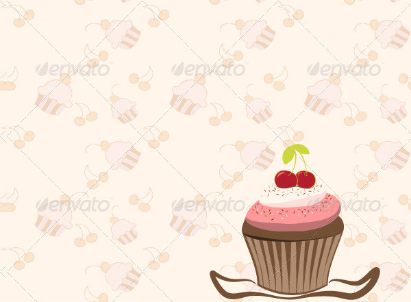 Cherry Cupcake Invitation Cards
