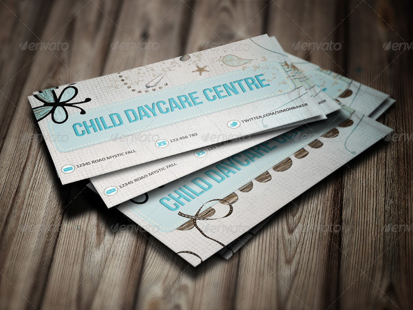 Child Daycare Center Business Card