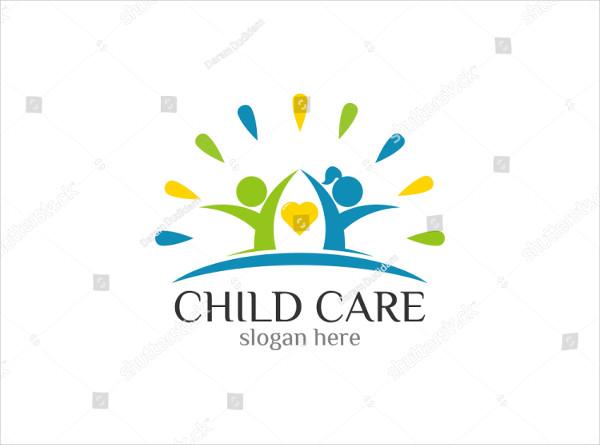Childcare Foundation Logo Design Template