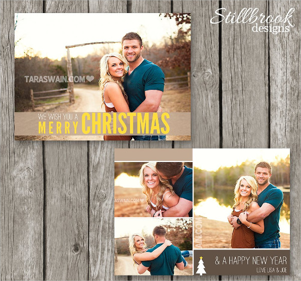 Christmas College Photo Card Template
