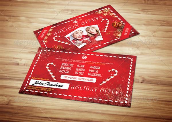 Christmas Holidays Gift Card Design