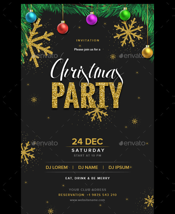 Christmas Party Email Invitation Design PSD