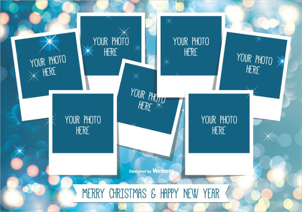 Christmas Photo Card Collage Template Free