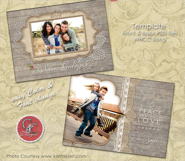 Creative Christmas Photo Card Template Selection