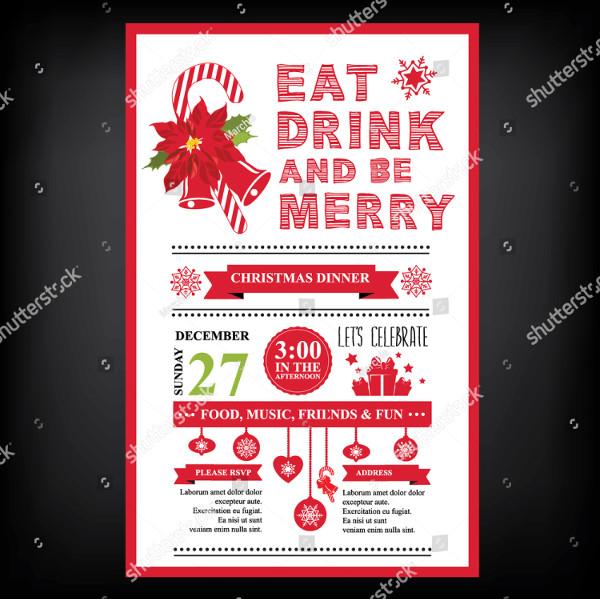 Christmas Restaurant and Party Menu Design