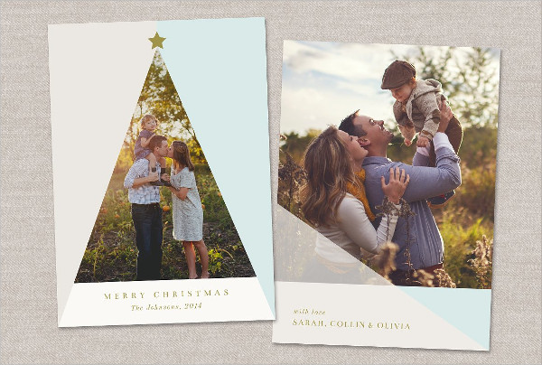 Best Christmas Tree Photo Card Template