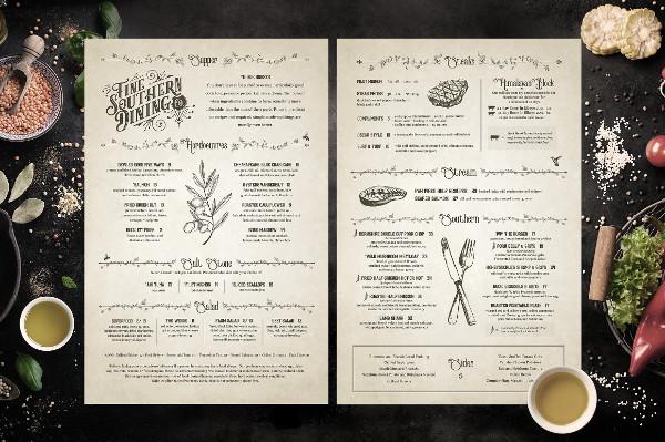 Classic Restaurant Brunch Menus Design