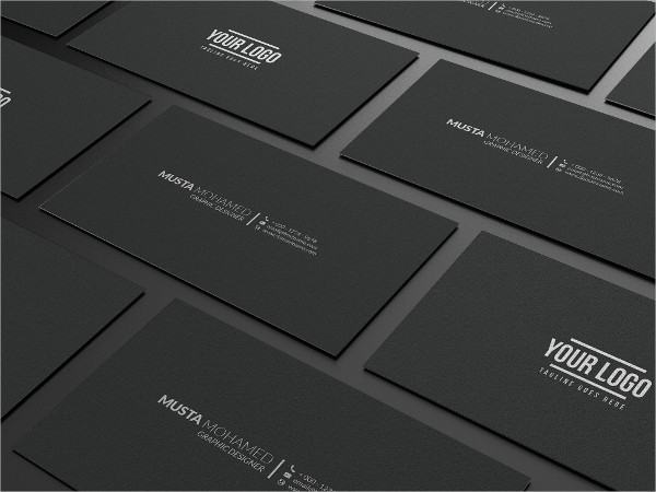 Clean Black Minimal Business Card