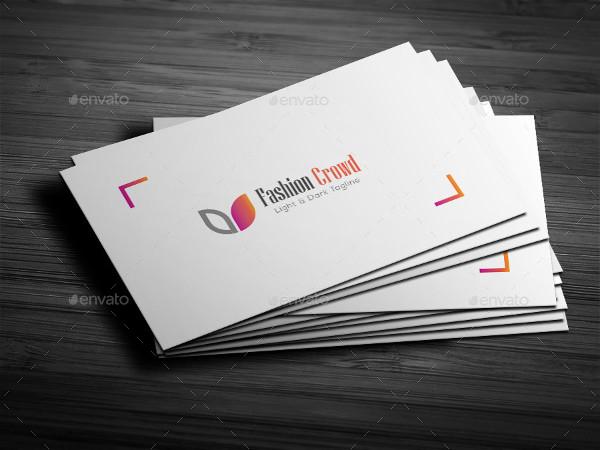 Clean Business Card Design for Web Designer