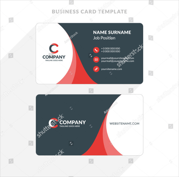 Clean Double-sided Business Card Template