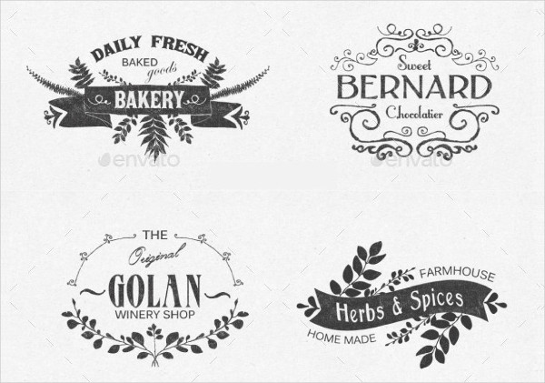Clean Floral Label Templates and Design Elements