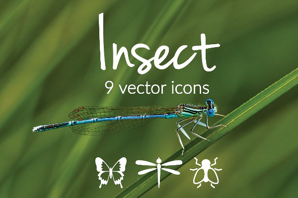 Clean Insect Vector Icons
