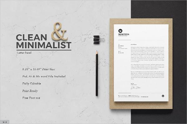 Clean Letterhead Template