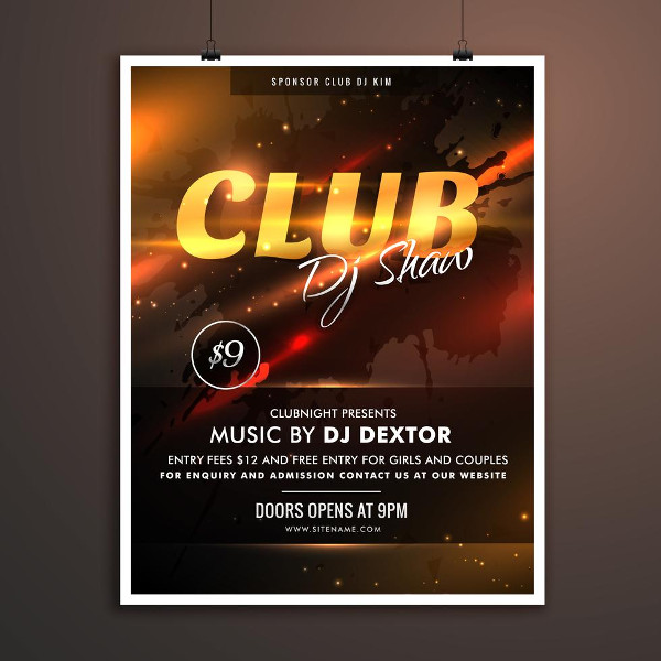Club Part Promotional Template Free