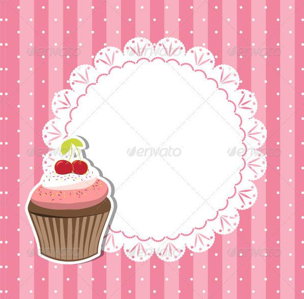 Fully Editable Cupcake Invitations Template