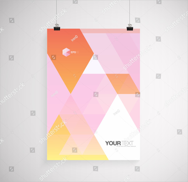 Colorful A4 Hanging Poster Mockup